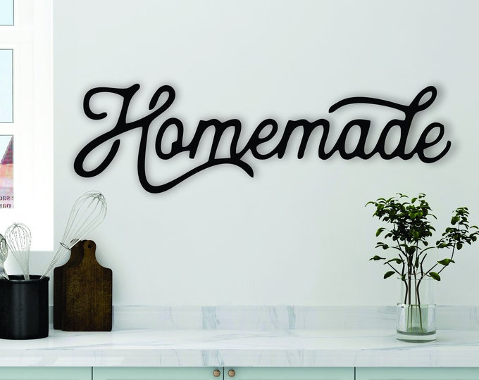 HOMEMADE WOOD Kitchen SIGN Decor / Rustic kitchen decor / Farmhouse Vintage Decor Sign