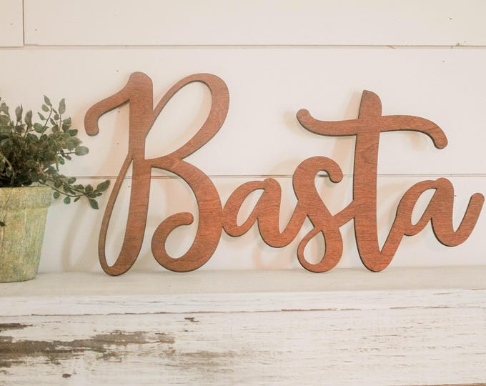 Wood Name Sign | Wedding Name Sign | Word Wall Hanging | Nursery Room Decor | Family Name Sign | Rustic Cursive Word | Backdrop Name Sign