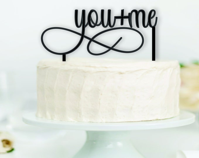 YOU AND ME Wood Wedding Cake Topper / Bride Groom cake topper / boho wedding cake topper decor