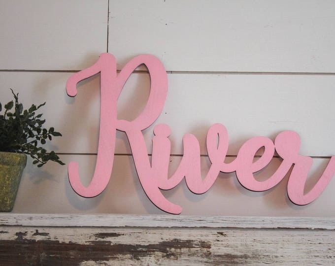 Wood NAME Sign / Home Decor / Nursery Sign / House Warming Gift / Wedding Gift