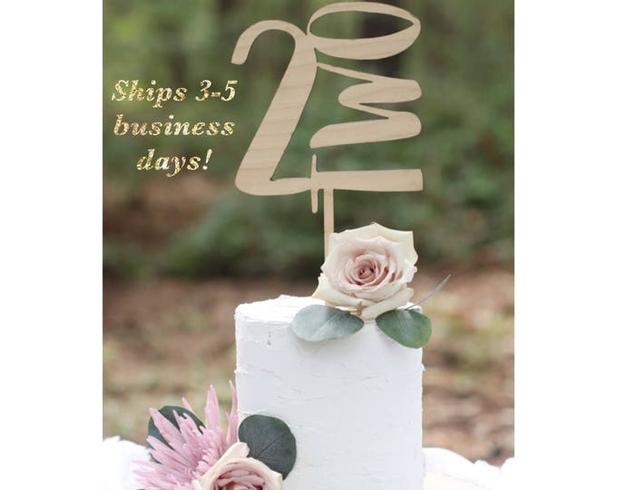 NUMBER CAKE TOPPER / Ships in 3-5 Business Days / Other colors available / Birthday Cake topper