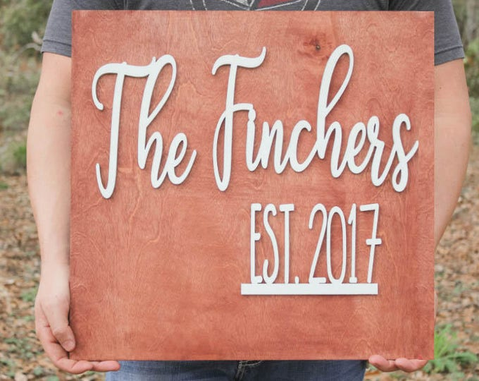 CUSTOM WOOD SIGN / Home Decor / New home gift / House Warming Gift / Wedding Gift