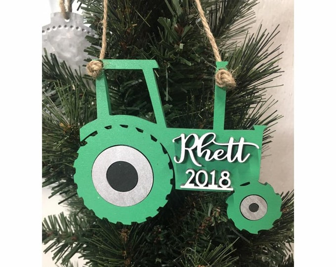 PERSONALIZED TRACTOR CHRISTMAS Ornament / Free Shipping / Custom Tractor Ornament