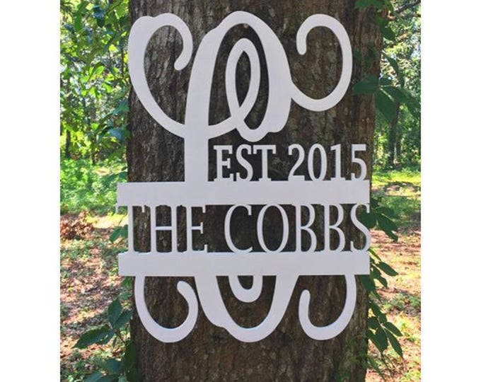 Custom Personalized Door Hanger / Wedding Gift / Home Decor