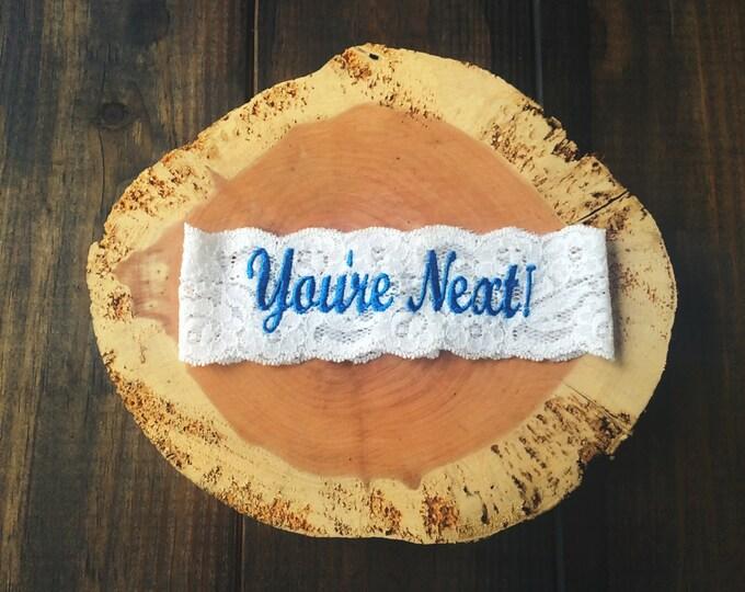 YOURE NEXT ™ Garter / Dark Turquoise / Wedding Garter / lace garter
