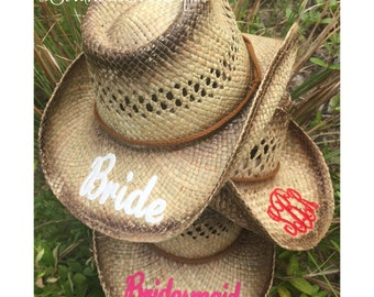Cowgirl Hats Etsy