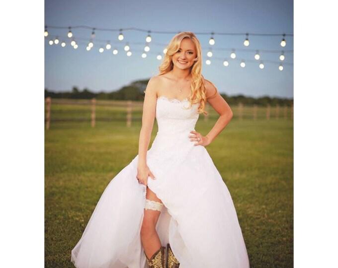 "Lace garter KEEPSAKE only the ""Clara"" / bridal garter/ lace garter / toss garter / vintage / Shabby Chic"