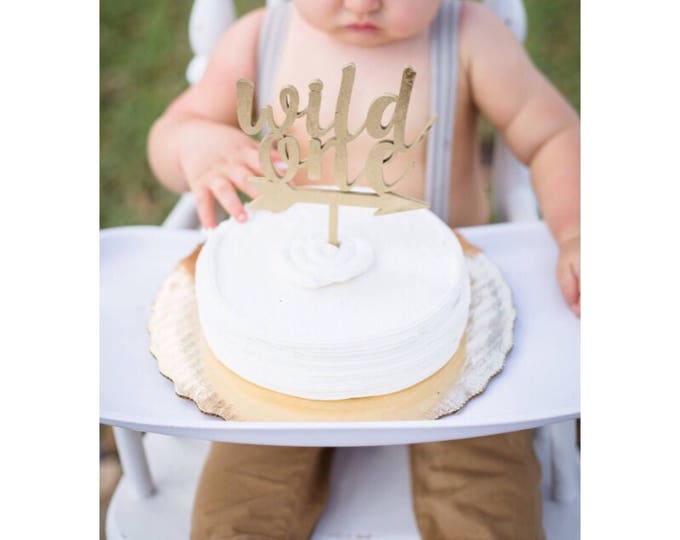 WILD ONE Cake Topper Wood. Boho Cake topper. First Birthday Cake Topper. Smash Cake topper.  Little Wild One Birthday.
