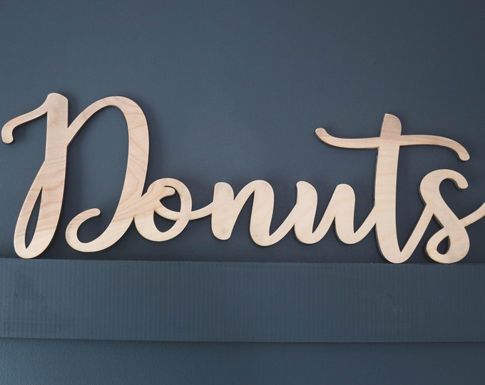 DONUTS WOOD SIGN / Donut Bar / Donuts / Donut wall / Wedding Donut Bar