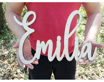Wood NAME Sign unfinished / Home Decor / Nursery Sign / House Warming Gift / Wedding Gift