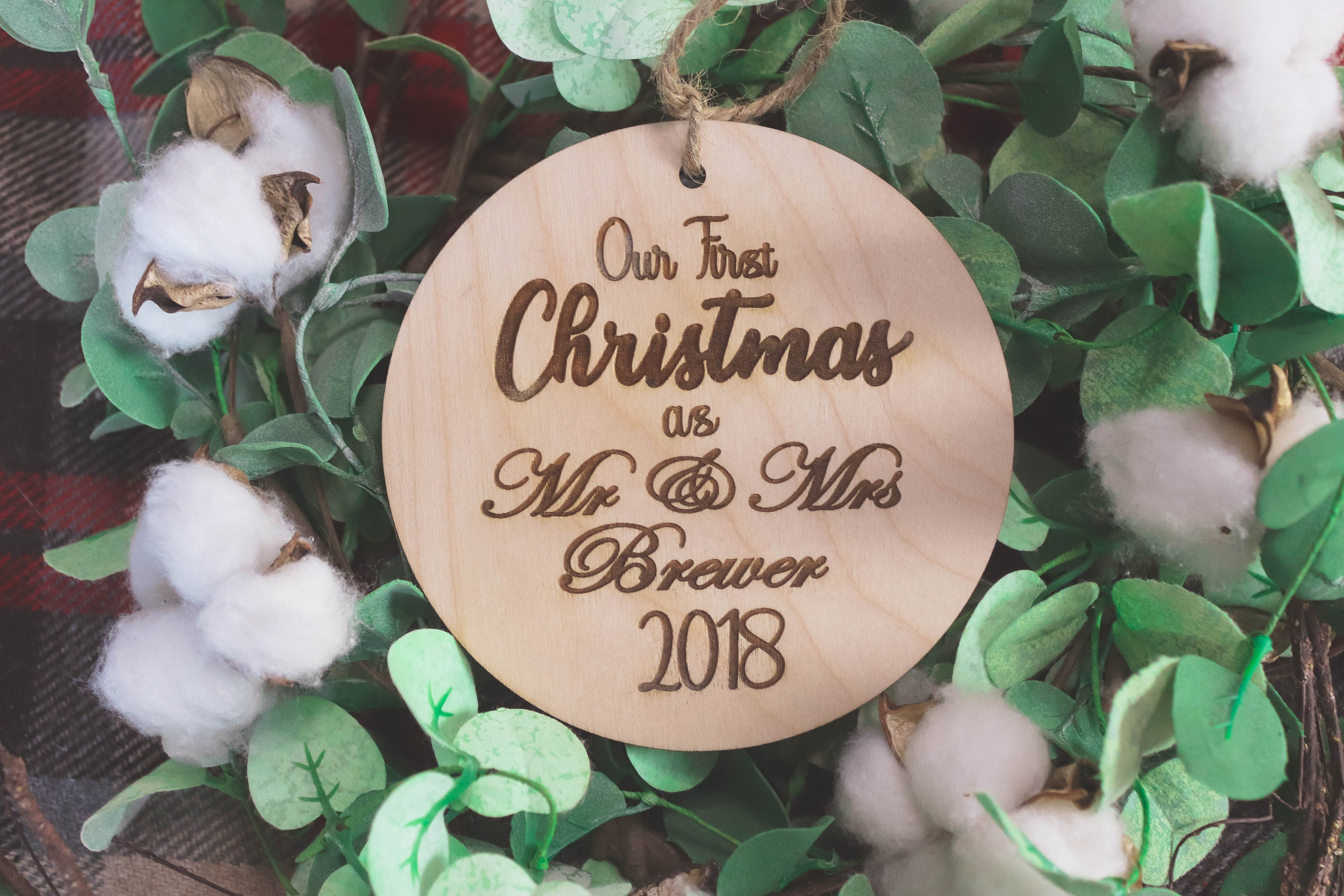 PERSONALIZED WOOD ORNAMENT / Free Shipping / First Christmas ...