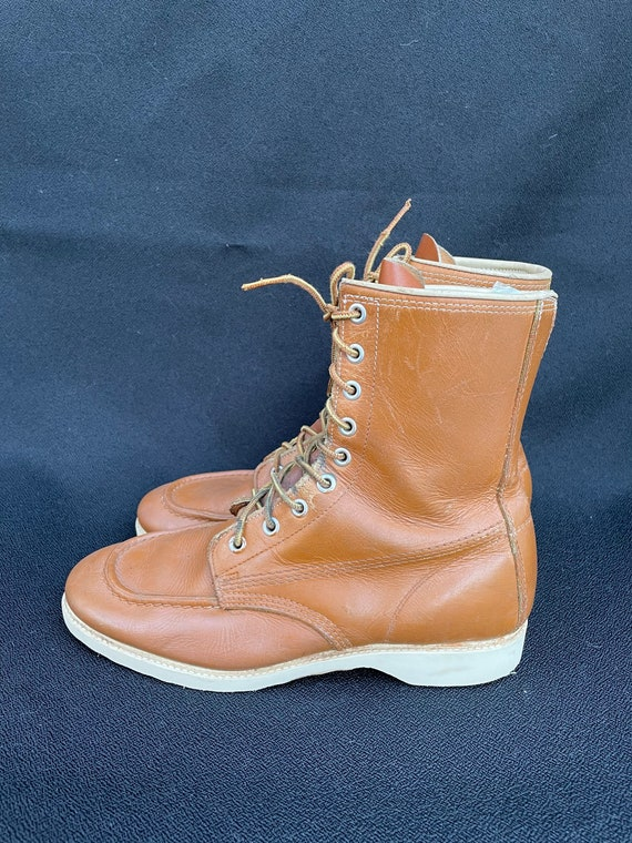 Vintage 1950s leather lace up work boots