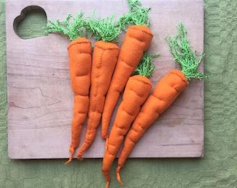 100% wool carrots
