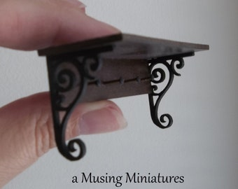 Victorian Hall Shelf in 1:12 Scale for Dollhouse Miniature Roombox or English Manor