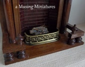 Only ONE Miniature Ornate Fireplace Fender in 1 12 Scale for Dollhouse