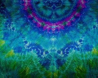 Belly Dance Silk Veil Blue Green Purple Tie Dye IN STOCK