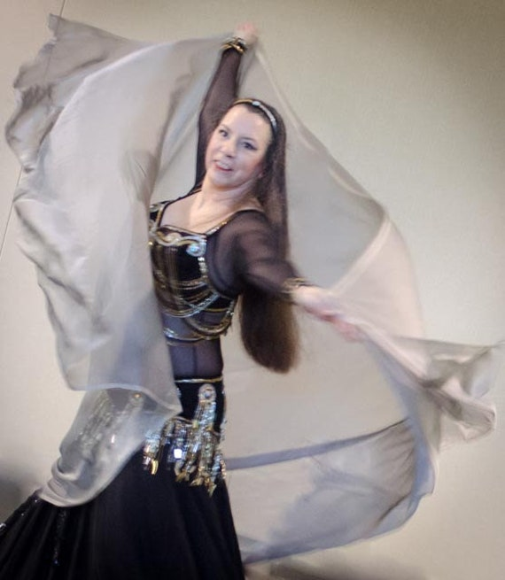 you pick the colors and silk weight Custom Belly Dance Veil