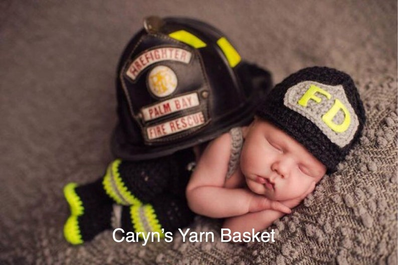 4fa6e5ec43d CROCHET PATTERN Newborn Size Baby Firefighter Fireman Hat