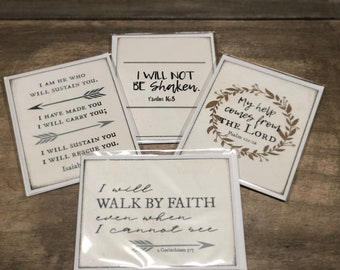 Set of four scripture note cards