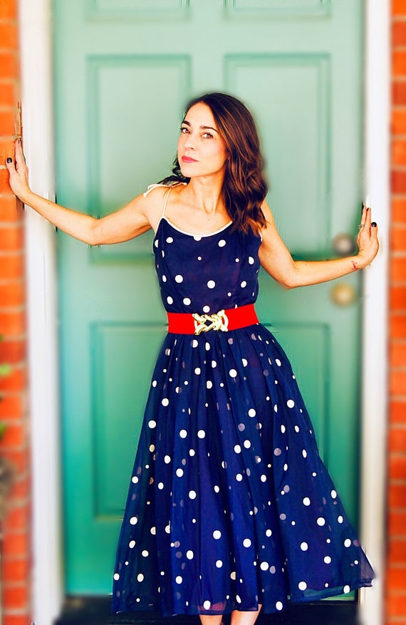 Vintage 50s Polka Dot Dress