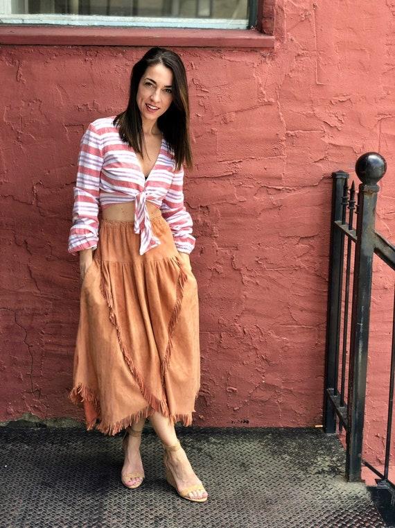 Vintage Char & Sher Suede Skirt