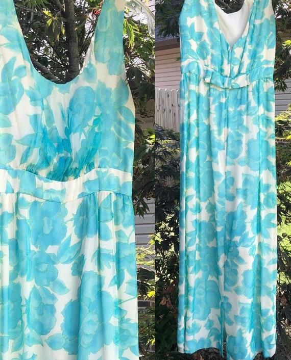 Vintage 60s Lee Claire Maxi Dress - image 6