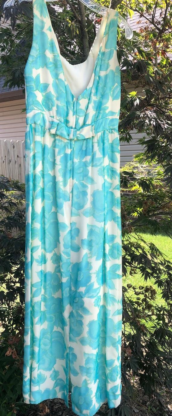 Vintage 60s Lee Claire Maxi Dress - image 5