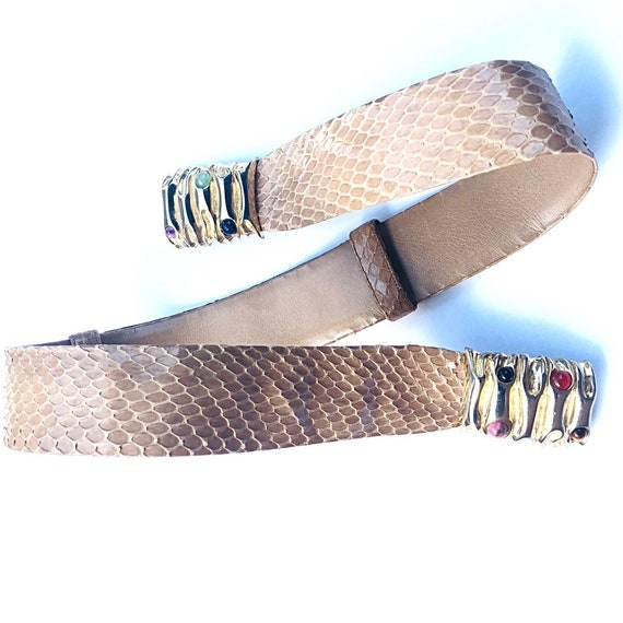 Judith Leiber Vintage Snakeskin Belt