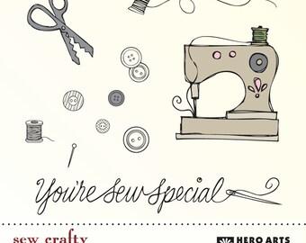 Hero Arts Sew Crafty DK027