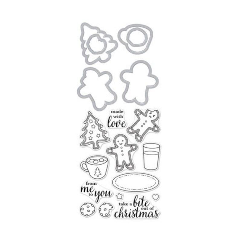 Hero Arts:  DC213 Santa Snacks Stamp & Cut Clear Stamp Die image 0