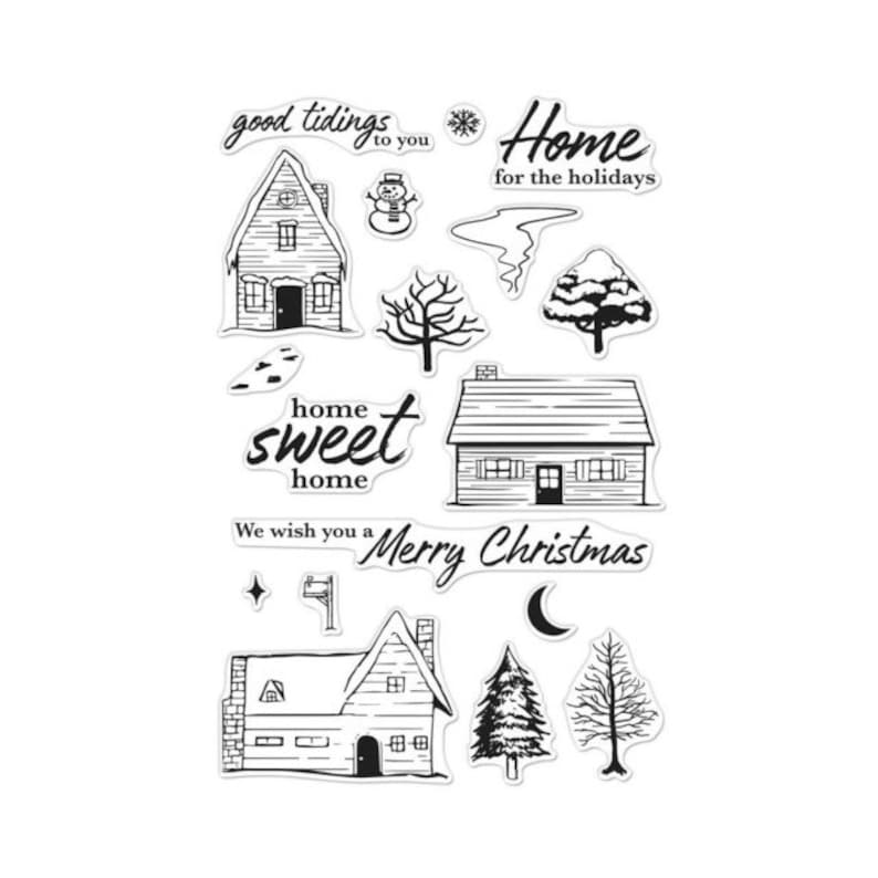 Hero Arts Home for the Holidays CM282 Clear Stamps matched image 0