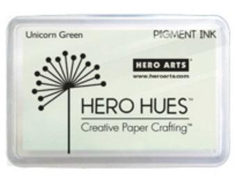 Sale Hero Arts Unicorn Pastel Green AF279  Pigment Ink