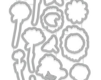 Hero Arts Little Florals Dies matches CM193;flowers, scrapbook, card making, paper crafting. a2z scrapbooking