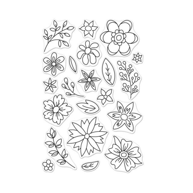 Hero Arts Flowers for Coloring Clear Stamps // Flower Stamps image 0