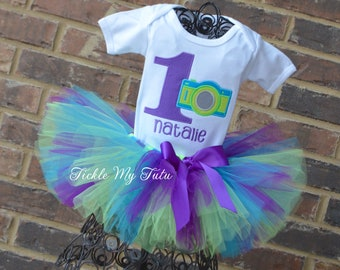 Camera Birthday Tutu Outfit-Oh Snap Birthday Tutu Outfit-One Year Gone In a Flash Birthday Tutu Outfit