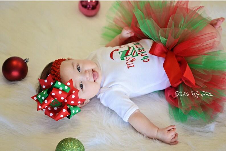 085023e5b9c My First Christmas Tutu Outfit-My First Christmas Tutu
