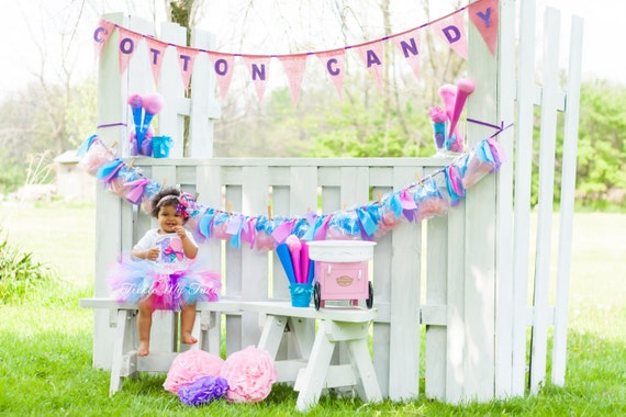 Cotton Candy Cutie Birthday Tutu Outfit-Carnival Birthday Tutu Outfit-Circus Birthday Tutu Outfit *Bow NOT Included*
