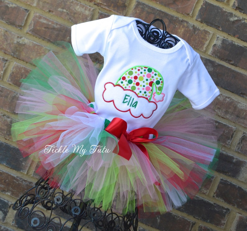 3f7d55535a8cd Silly Santa Hat Christmas Tutu Outfit-Christmas Pageant
