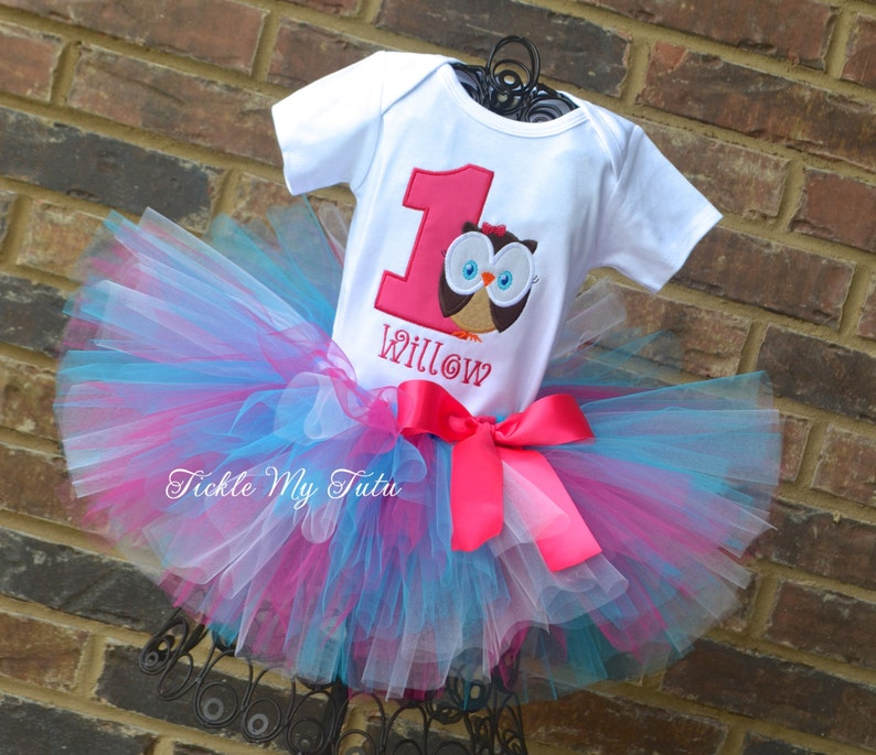 b03d90366 Owl Birthday Outfit-Whoo's One Owl Tutu Oufit-Owl Themed   Etsy