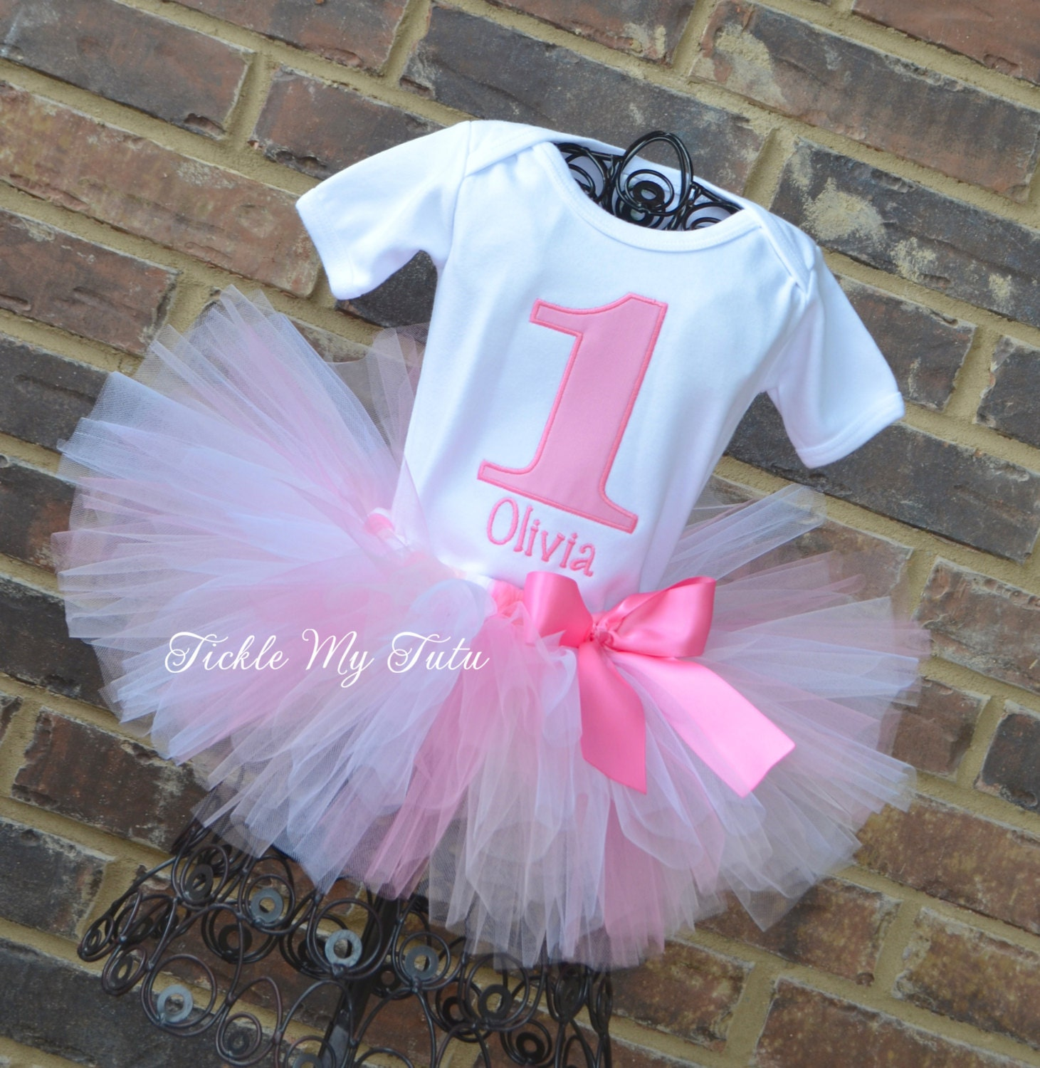 534e13c5d Pretty in Pink Olivia Birthday Tutu Outfit-Ballet | Etsy