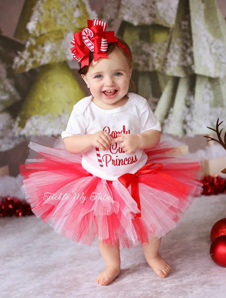 Candy Cane Princess Tutu Outfit-Candy Cane Cutie-My First Christmas Tutu Outfit-My First Christmas Tutu Set *Bow NOT Included*