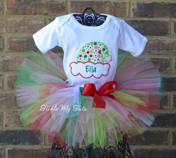 6a680704ad1 Silly Santa Hat Christmas Tutu Outfit-Christmas Pageant
