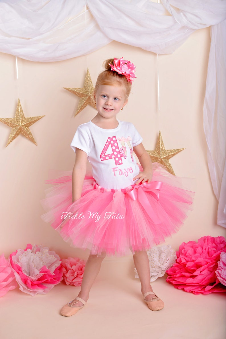 911445ce4 Little Ballerina Birthday Tutu Outfit-My First Ballerina Tutu