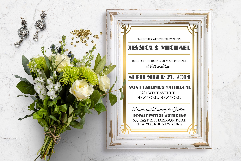 Great Gatsby Wedding Invitation: Art Deco Wedding Invitation Great Gatsby Wedding Gatsby