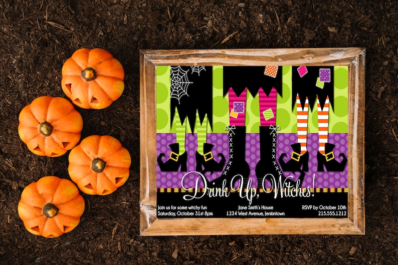 Witch Halloween Party Invitation Costume Party Invite Adult Halloween Party Kids Halloween Invitation Trick Or Treat Printable Halloween