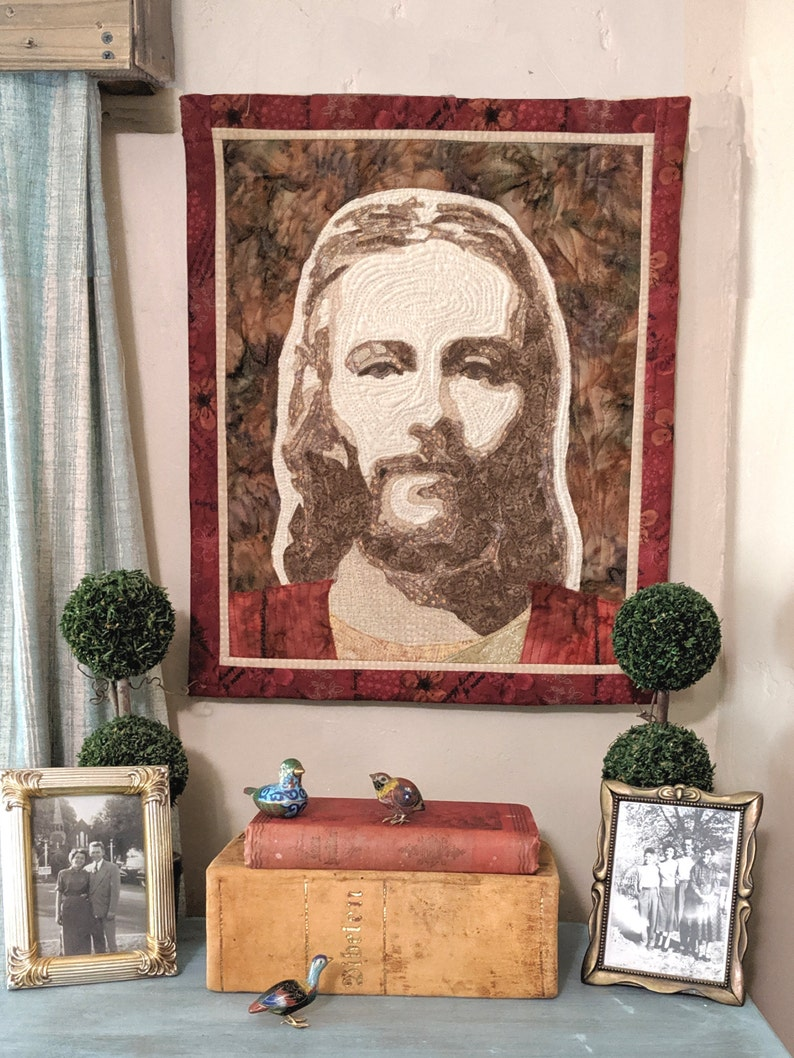 Savior Jesus Christ Quilted Wall Hanging image 0