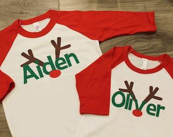 f05609240 Kids christmas shirt | Etsy