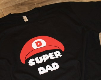 SUPER MARIO birthday shirt for adults - Super Dad