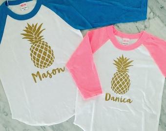 Pineapple Shirt, Boys Pineapple Shirt, Girls Pineapple Shirt