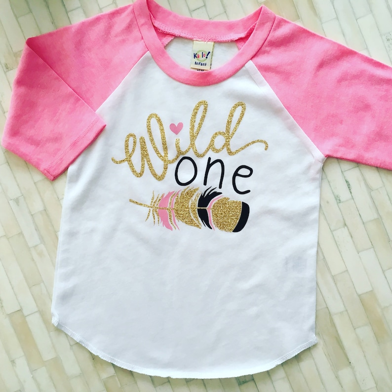Baby Girl 1st Birthday Shirt Girls Wild One